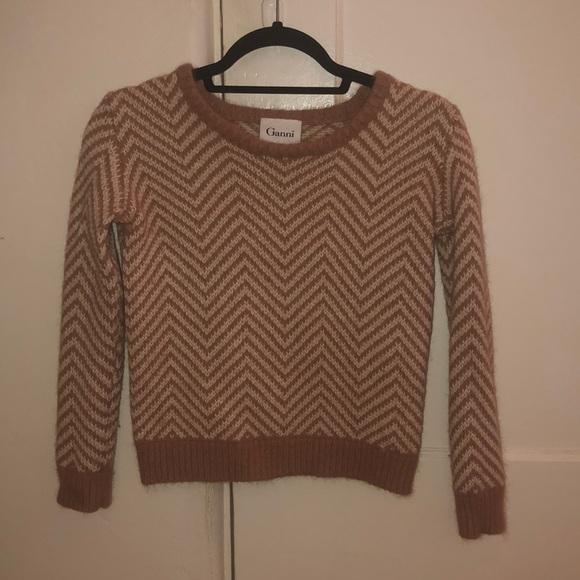 2422c281643b Anthropologie Sweaters | Ganni Chevron Wool Sweater | Poshmark